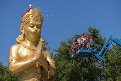 DUE_4601r (crobart) Tags: dedication statue ji golden vishnu hill ceremony richmond celebration idol hanuman unveiling hindu hinduism mandir bapu pujya morari