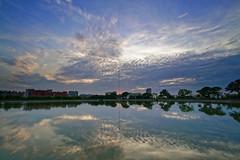 2016-06-08 18.35.23 (pang yu liu) Tags: park sunset reflection pond dusk 06  pate jun   2016