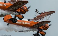Breitling Wing Walkers (Dan Elms Photography) Tags: orange canon wing boeing biplane stearman breitling bigginhill wingwalkers 70d festivalofflight canon70d breitlindwingwalkers