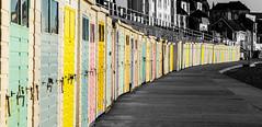 Ready for summer... (Mrs Bec) Tags: uk sea summer england beach canon coast seaside huts beachhuts canon6d