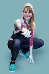 Spider-Powered Woman (l plater) Tags: cosplay marvelcomics sydneyolympicpark gwenstacy spidergwen earth65 supanovaexposydney2016