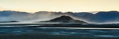 Kluane Lake Island (WherezJeff) Tags: ca lake canada sunrise river island spring cool desert wind pano dry delta dust barren slims silt glacial unofficial 2016 kluane yukonterritory yukonunorganized