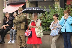 Rotherham Vintage Hop June 2016 (2) (Chris.,) Tags: canon dance war song military crowd 1940s 1950s creativecommons polkadot rotherham homeguard allsaintssquare vintagehop queens90thbirthdaycelebration