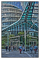 Urban Reflections (tim constable) Tags: city uk urban reflection london glass lines rose metal architecture modern design office view district shapes angles scene norton symmetry architectural southbank business commercial lookingglass workplace scape neighbourhood materials offices fulbright timconstable