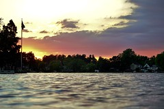59 (_T_Willi_95) Tags: sunset summer usa lake nature beautiful night canon outdoors boat americanflag edits photograghy lakeorion canont3i rebelt3i
