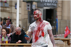 After the match .... (Jan Gee) Tags: june blood birmingham zombie walk 18 hooligan 2016