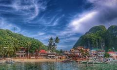 El Nido,  Palawan (sonnymmercado) Tags: vacation sky cloud nature water landscape island outdoor watercourse palawan