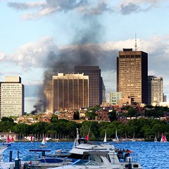 Smoke in Boston ((Jessica)) Tags: boston fire smoke