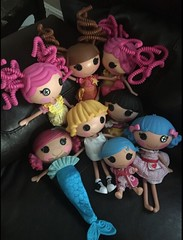 Lalaloopsy Lot Toys R Us LOL! (andrewteel213) Tags: lalaloopsy crumbs sugar cookie prairie dusty trails patch treasurechest coral seashells snowy fairest stumbles bumps n bruises rosy indoor toy ebay