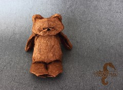 Waiting for a Friend (mitanei) Tags: bear stuffedtoy paperart origami teddy teddybear br teddybr danielchang papierkunst mitanei keepfoldingon