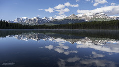 peaceful morning at Herbert Lake (jaki good miller) Tags: morning lake nature water reflections landscape serene lakelouise albertacanada banffnationalpark herbertlake canadalandscape