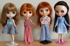 Four of my SBL girls (Molly Moult) Tags: girl doll olivia group redhead bonnie tina blythe brunette rosalie mws sbl groovygroove ashblonde happyeveryday milkywaysugar primadollyashletina