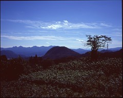 (bensn) Tags: mamiya 7ii 80mm f4 medium format film velvia 100 japan gunma mountains mountain sky clouds cloud grass