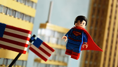 The Superman (Andrew Cookston) Tags: city blue red stilllife usa macro america comics photography dc lego flag tan flags superman story american metropolis minifig dccomics custom forcedperspective moc andrewcookston phoenixcustoms phoenixcustomsllc phoenixcustomsbricks