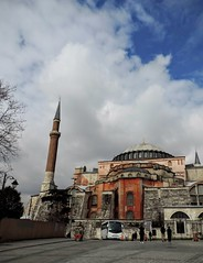 One side of Hagia Sophia from the square in front of Topkapi (smacss) Tags: church museum istanbul mosque sophia hagia
