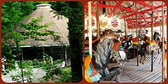 THE CAROUSEL AT ROSS PARK ZOO (Visual Images1) Tags: two newyork zoo diptych carousel merrygoround binghamton rosspark picmonkey
