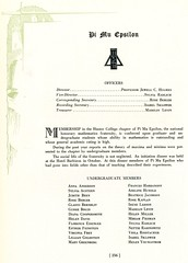 Pi Mu Epsilon (Hunter College Archives) Tags: students 1932 yearbook fraternity hunter awards honors huntercollege studentorganizations organizations fraternities wistarion thewistarion pimuepsilon