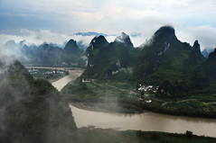 Limestone hills & Lijiang river 漓江 相公山 (MelindaChan ^..^) Tags: china cloud house mist tree nature weather rock fog rural river village cloudy guilin hill hills mel limestone layers melinda 漓江 shape karst lijiang guangxi 桂林 topography landform 廣西 石灰岩 countrysdie 喀斯特地形 chanmelmel melindachan 相公山