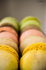 Colors (Mikhael | P H O T O G R A P H Y) Tags: pink green yellow strawberry chocolate macaroon 1855 vr nikond3100