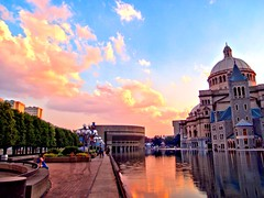 Late Afternoon - HDR (Brooks Payne) Tags: city blue light sunset summer sky urban orange colour reflection church water yellow boston skyline architecture clouds reflections geotagged ma photography lights evening photo cityscape colours afternoon mr massachusetts newengland vivid olympus dome romanesque bostonma hdr byzantine christianscience bostonist motherchurch 02115 christianscienceplaza lurvely christiansciencemotherchurch skytheme thatsboston xz1 brooksbos