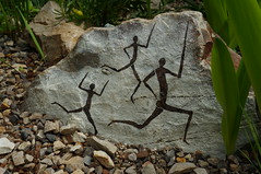 Rock paintings (c.young) Tags: people plant man men rock southwales wales garden carmarthenshire mediterranean stickman great paintings may national botanic stick plantae region stickmen glasshouse climate zone nationalbotanicgardenofwales nationalbotanicgarden rockpaintings nbgw 2013 nationalbotanicgardenwales thegreatglasshouse greatglasshouse mediterraneanclimateregion mediterraneanclimatezone