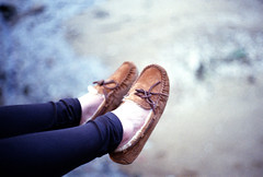 From Where You Sit (goodbyebyesunday) Tags: leica travel film shoes fuji bokeh superia macau superia400 summilux m6 leicam6 8800f