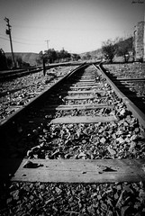 9.- I'm goin to you, or you're coming to me? (CrowPhotography - Chile) Tags: life new bw white black train tren cool secret intrigant