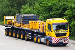 MAN TGX BU08 HDY Ainscough (gylesnikki) Tags: yellow truck artic stgo ainscough