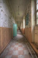 'Classroom corridors' (Timster1973 - thanks for the 8 million views!) Tags: school windows light france colour green abandoned canon french tim europe doors silent decay empty neglected corridor forgotten urbanexploration learning forgot fr derelict abandonment decayed decaying dereliction ue urbex eurotour urbanwandering schoolurbex timknifton timster1973 knifton pensionnatcatholique franceurbanexploration frenchurbanexploration