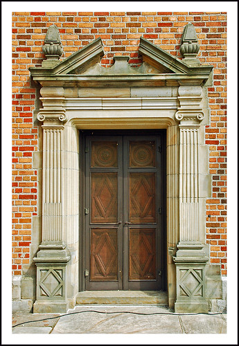Christopher Wren dining room door - Meadow Brook Hall