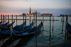 Church of San Giorgio Maggiore, Venice, Italy (dhansak79) Tags: leica venice sea italy church water 35mm boats dock san europe italia harbour f14 mooring gondola maggiore venezia summilux giorgio fle moored m9p