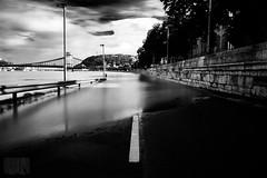 APO Calypso @ Hungary (Longexpo) (James Cage) Tags: longexposure blackandwhite bw canon hungary flood budapest 1770 17mm longexpo 2013 550d canon550d