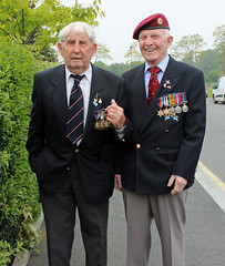 These two grew up a couple of streets from each other in Liverpool, and landed together on the beaches on D Day. (maggie jones.) Tags: world two 6 france june war ww2 normandie 1944