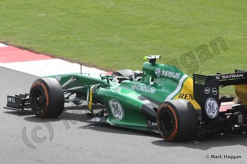 Giedo van der Garde in Free Practice 3 at the 2013 British Grand Prix