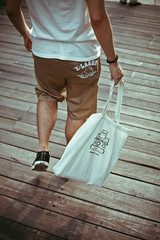 Go Right Ahead (Jacz Tse) Tags: life guangzhou street people urban man male canon 50mm back legs body lifestyle snap 50mm14 sneakers converse potrait cinematic canton jh totebag xlarge jackpurcell adlib peopleinthestreet 5dmarkii withhen