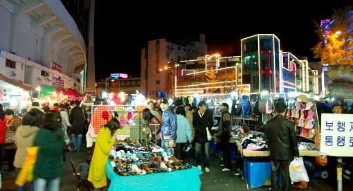 ソウルのオプショナルツアー(東大門市場)