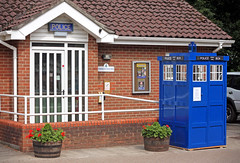 The Tardis Lands In Woodhall Spa (JonCoupland) Tags: boston vintage photography jon war cosplay box who weekend 1940 police lincolnshire 1940s doctor british tardis spa coupland woodhall fishtoft