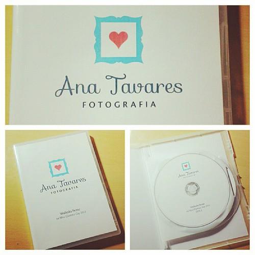 Chegou o dvd de fotos da minha amiga Walleska. Que luxo a capa e dvds feita pela querida amiga fotógrafa Ana Elisa @petit_pois