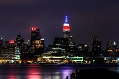 Labor Day 2013 (dandimar) Tags: new york city nightphotography ny skyline nj empirestatebuilding chryslerbuilding hoboken laborday bankofamericatower 4timessquare hudsonriverwaterfront