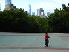 Fort Greene Park Scooter View (JeffReuben) Tags: nyc newyorkcity skyline brooklyn scooter fortgreene fortgreenepark freedomtower 1wtc