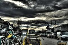 junk cars (OTMTC) Tags: sky cars rain junk strom hdr