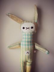Blanket Bunny (PaisleyJade) Tags: rabbit bunny recycled plush softie blanket plushie crafty recycle woollen mycreativespace