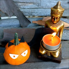 Buddha's Batty Birthday Candle Wish