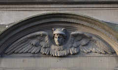 Hermes (Rick & Bart) Tags: city sculpture haarlem plaque sculptuur hermes noordholland bakenessergracht gablestone rickbart thebestofday gnneniyisi rickvink