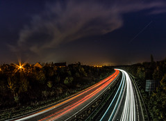 Night Lights (Suggsy69) Tags: longexposure stars lights nikon fisheye nightsky fisheyelens lighttrail d5200