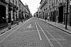 Un sentido (Campanero Rumbero) Tags: street old city trip travel mexico calle day colonial ciudad dia puebla turismo viejo historia flecha centrohistórico direccion sentido
