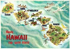 Hawaii (tico_manudo) Tags: hawaii maps mapas hawaiianpostcard mapcards