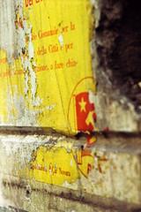 Memento (emanuele_f) Tags: street film poster kodak 85mm communism f2 portra fujica pci memorabilia analogica manifesto 160 jupiter9 pellicola novara 24x36 st705w