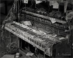Not Quite Playable (A Anderson Photography, over 1 million views) Tags: blackandwhite canon mono route66 piano nikcolorefexpro oldandbeautiful