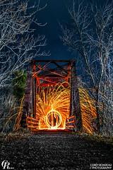 The Fire Within (CoreyRondeau) Tags: longexposure nightphotography trees light lightpainting wool lines night painting fire graffiti nikon power steel strength lightgraffiti steelwool steelwoolphotography